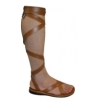 ROMAN-12 Brown Faux Leather